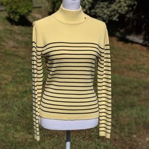 Tommy Hilfiger yellow/navy turtleneck